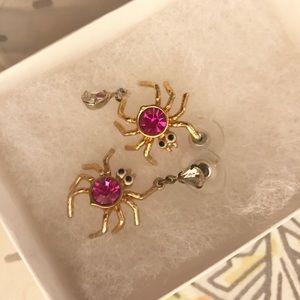Betsy Johnson spider earrings